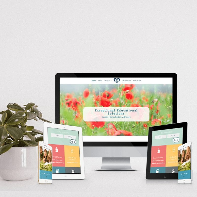 Website design for non profit shown on multiple devices and screen sizes