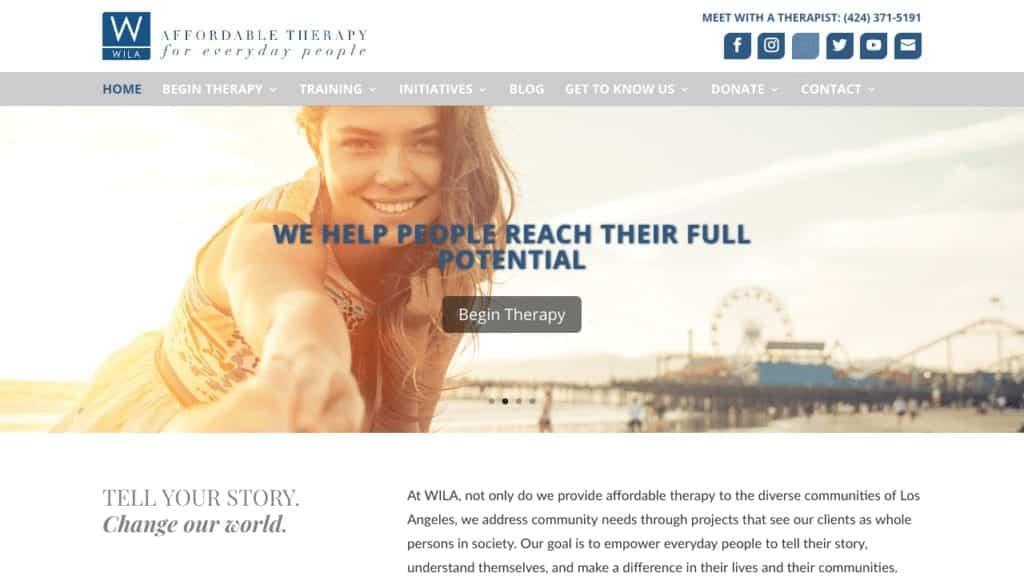Group practice website example