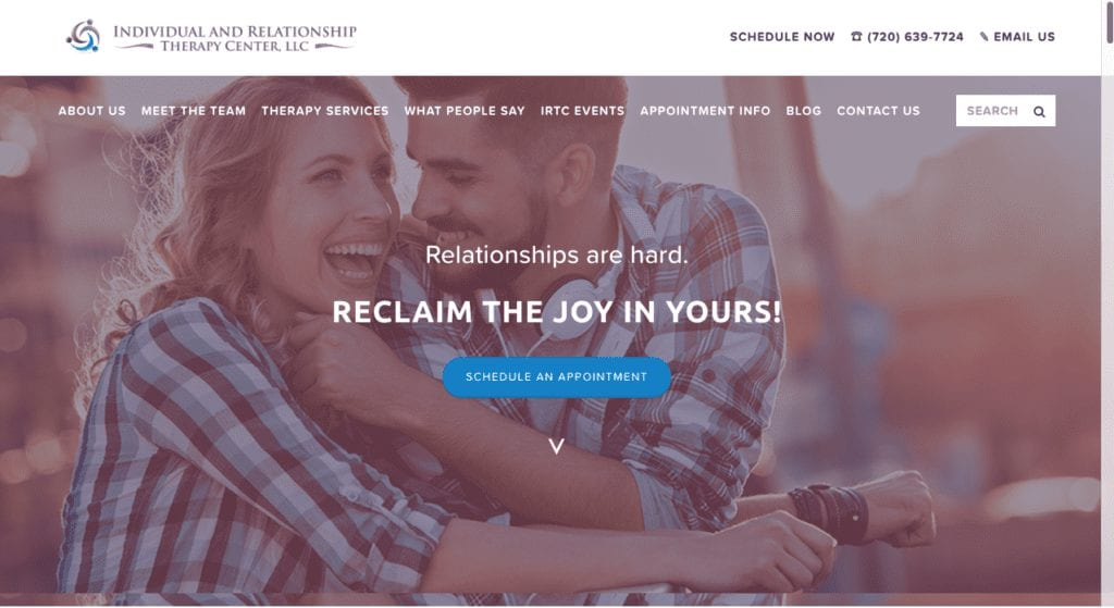 family therapy website example