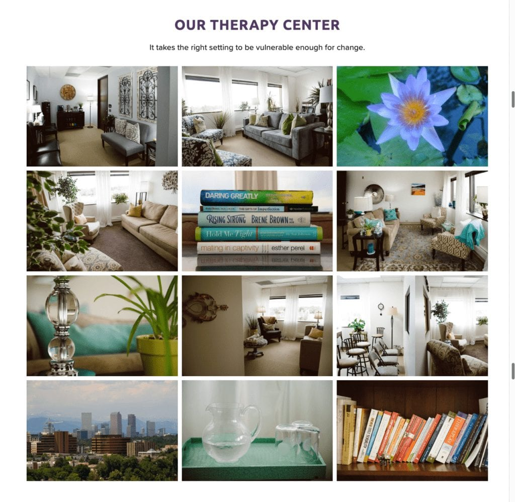 therapy center website