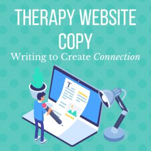 Therapist website copy featured image