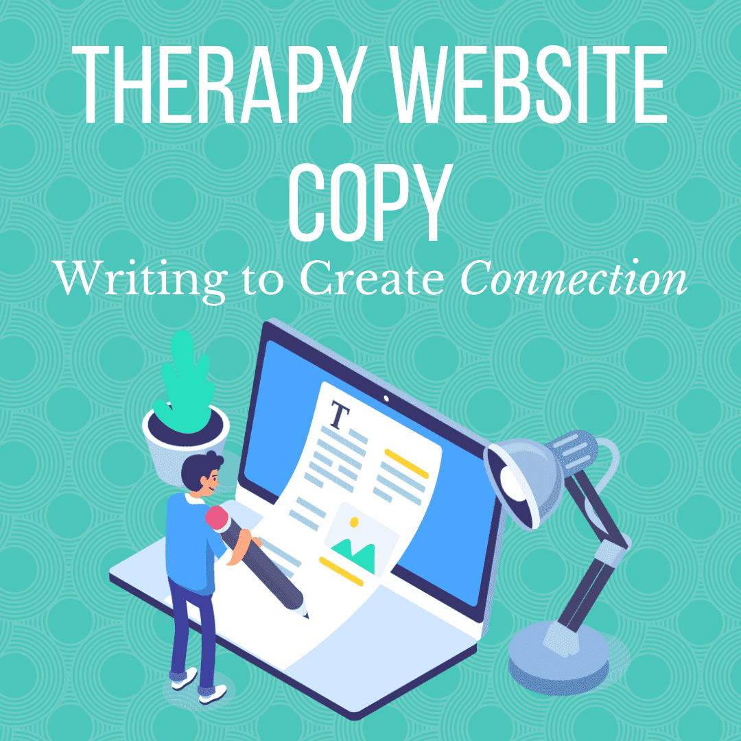 Therapist website copy featured image
