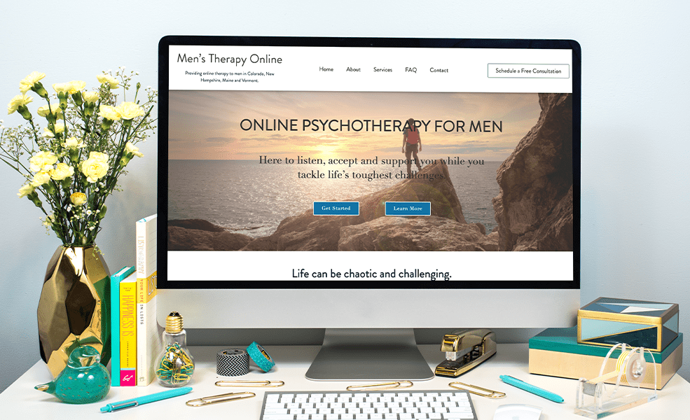 computer showing therapy practice website