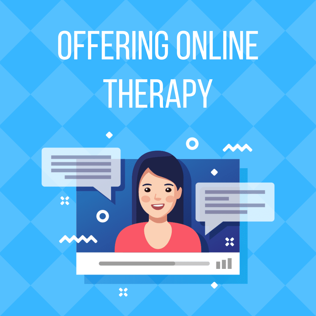 graphic about online therapy