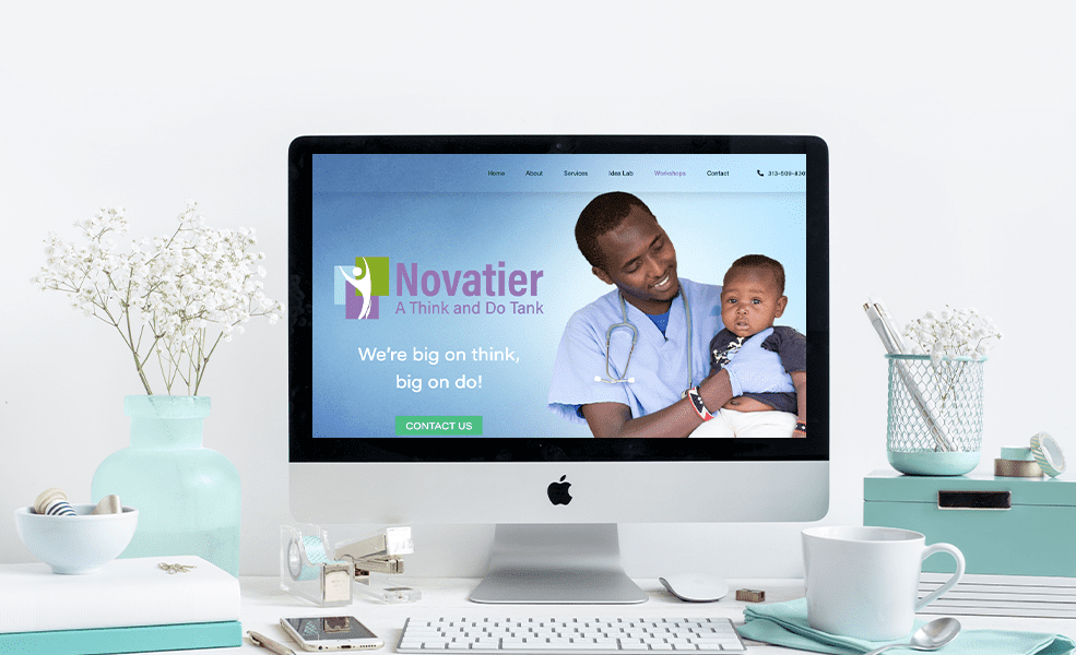 example of non profit website design