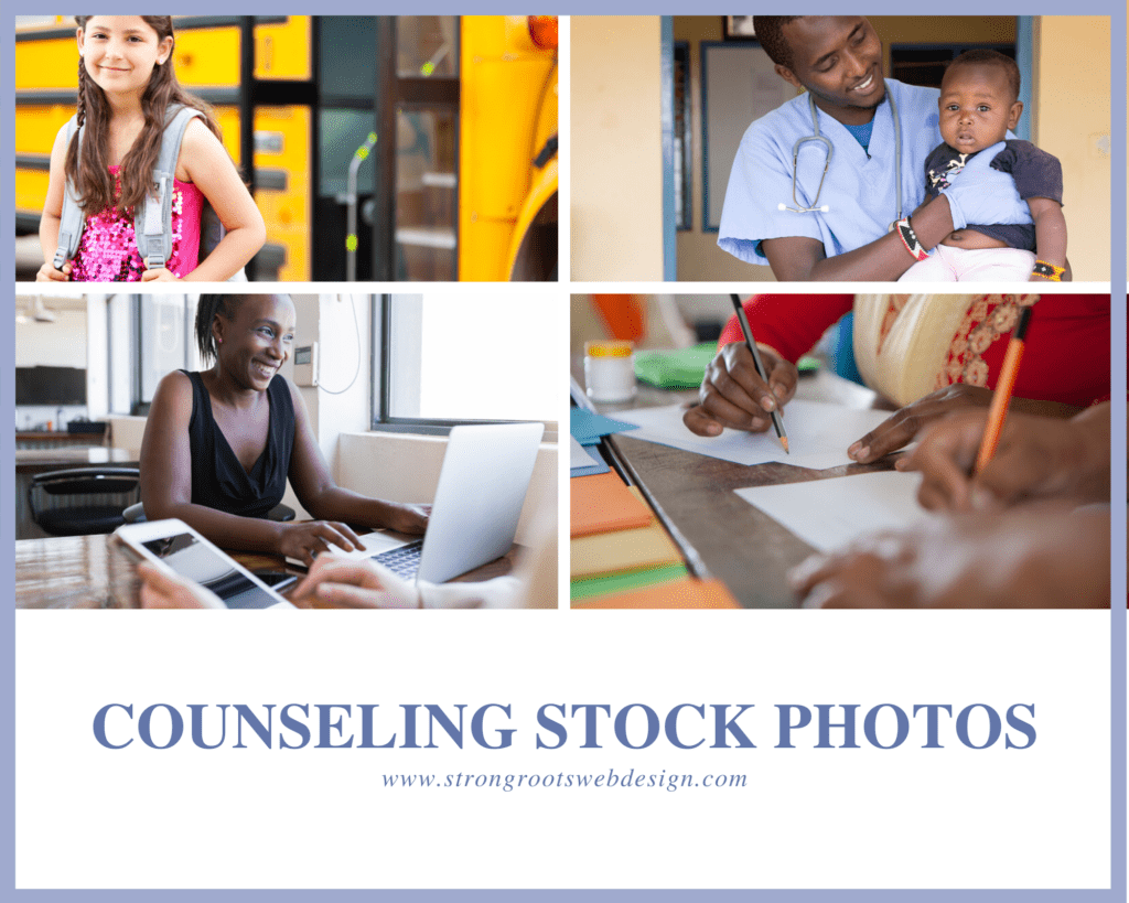Collage of Stock images for Therapists and Counselors