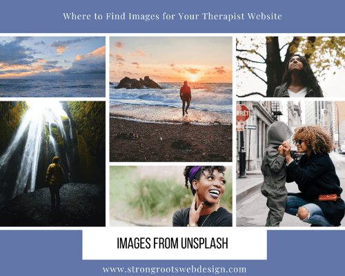 Where to Find Photos for Your Therapy Website