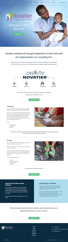 Novatier_homepage