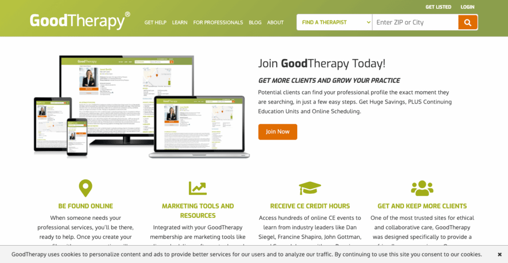 Good Therapy Therapist Directory