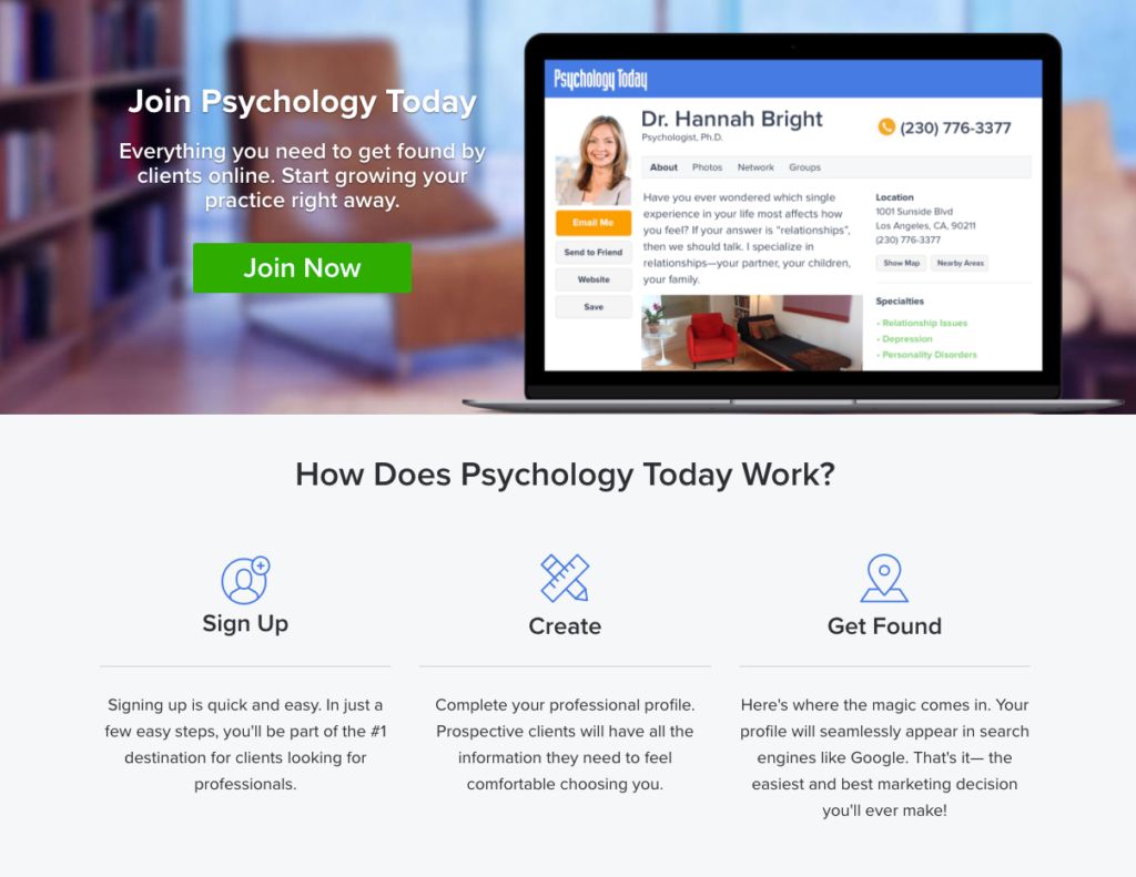 Psychology today therapist directory