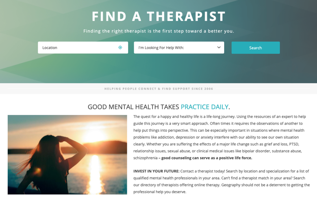 therapy tribe therapist directory