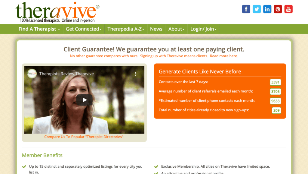 theravive therapist directory